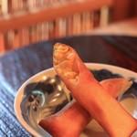 蓮香 - 料理写真:玉蜀黍の春巻き