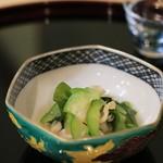 竹久 - 酢の物(青ウリ、ひも、わかめ)