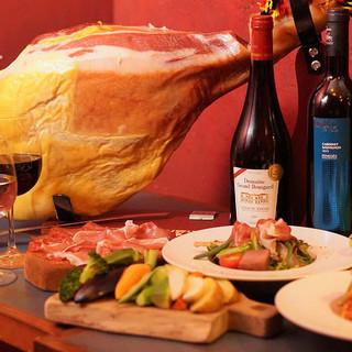 イタリアパルマ産生ハム食べ放題♪お得な宴会プラン
