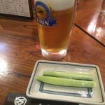 70228115 - お通しと生ビール (570円)