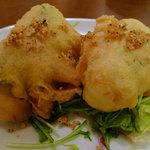 天香樓 - 夜のランチの、大葉と豆腐の揚げ