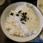 はなふさ - 白飯:とんかつ定食