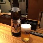 ぎょうざ処だいきち - 瓶ビール(中)d( ̄、  ̄)ノ¥500円