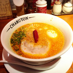 チャブトン - ちゃぶとんバリ辛らぁ麺(味玉付)