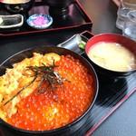 知床食堂 - うにイクラ丼2900円