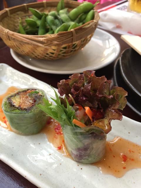 スカイビアテラス フラグリル 新宿店 - 枝豆 生春巻き