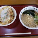 山田うどん - かつ丼Aセットたぬき蕎麦(790円)