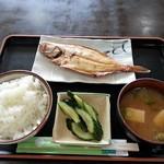 国八食堂 - 焼魚定食 600円