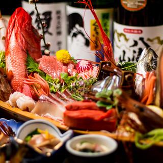 産直海鮮の宴会コース料理8品3H飲み放題付き3500円!