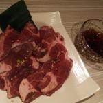 大宮苑 - お薦めのぽん酢で食べるネギカルビ