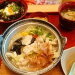 ジョイフル - ひじきご飯と豚しゃぶのみぞれ煮定食