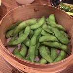 釜焼鳥 嬉音 - 蒸し枝豆