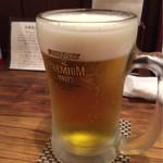 釜焼鳥 嬉音 - 生ビール