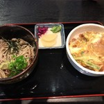 はちよう - カツ丼セットの蕎麦♫1150円
