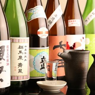 日本各地の厳選地酒&本格焼酎で楽しむ♪魚×日本酒は相性抜群!