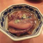 小石川 かとう - 本日のお通し(イカのわた煮)