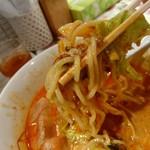 陳麻家 - 【2017.7.19(水)】冷し坦々麺(並盛・150g)710円の麺
