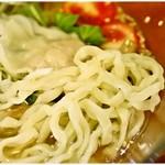 ラーメン武藤製麺所 - びろんびろんの平打ち麺!風味もとても良いです。