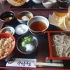 今日亭本店 - 料理写真:お昼の天ぷら定食(950円+税)