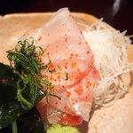 70285714 - 宇和島鯛飯定食 1100円 の鯛刺身