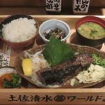 土佐清水ワールド - かつお藁焼き定食(小・5切)