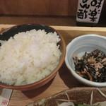 土佐清水ワールド - ご飯と小鉢