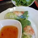 ベトナム家庭料理 マンダリンカフェ - 生春巻、パクチー