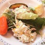 トラットリア・タパス - ランチセットのサラダ