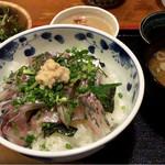 めしの助 - 鯵のたたき丼:1,500円