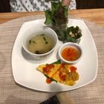 Ajiankicchimpukakafe - 前菜とスープのプレート