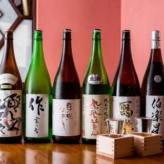 日本酒通も唸る!地酒10種以上ご用意