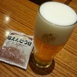 ヱビスビール記念館 - ガイドツアーのビール。