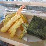 ベイサイド ながしそうめん - 竹定食(ランチ限定) 素麺 おにぎり 天ぷら 1,200円(税別)