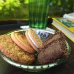 アール座読書館 - クッキー盛り合わせ 300円