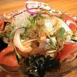 弥生 - 豆腐サラダのハーフサイズ400円