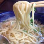 九十九里 麺ドラゴン - 中太麺