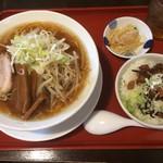 らーめん 醤家 - 醤油ラーメン&チャーシュー小丼