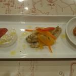 カーザ ダ アンドリーニャ - 前菜盛り合わせは、少しずつ5種類のお料理が