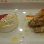カーザ ダ アンドリーニャ - 旨味の濃いスペイン産サラミ、自家製フレッシュチーズ、わかさぎのエスカベッシュ