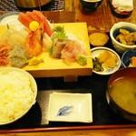 70319445 - 刺身盛り合わせ定食1900円。