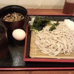 蕎麦たかね - ざるそば(420円)
