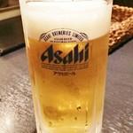 焼肉 近江 - 生ビール。