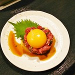 焼肉 近江 - 牛ユッケ♪久々に食べた(^o^)