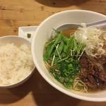 麺屋 西川 - 牛骨ラーメンとライス