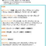 ロージア - 1400円90分飲み放題メニュー