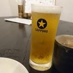 創作おでん よばれや - 男前はんの梅酒と僕の男は黙ってサッポロビール!