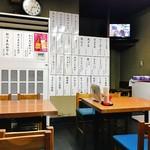 東嶋屋 - 奥のテーブル席