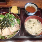 燻製居酒屋 くゆり - 自家製燻製ベーコン丼¥600-