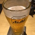 海の幸×個室居酒屋 響き - グラスビールで乾杯