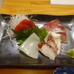 江戸ッ子寿司 - 料理写真:2017.08 刺身の盛り合わせ